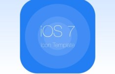 iOS 7 Icon Template PSD