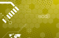 Yellow Abstract Technology Background Vector