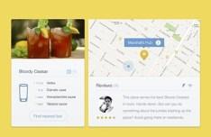 Cocktail App GUI PSD