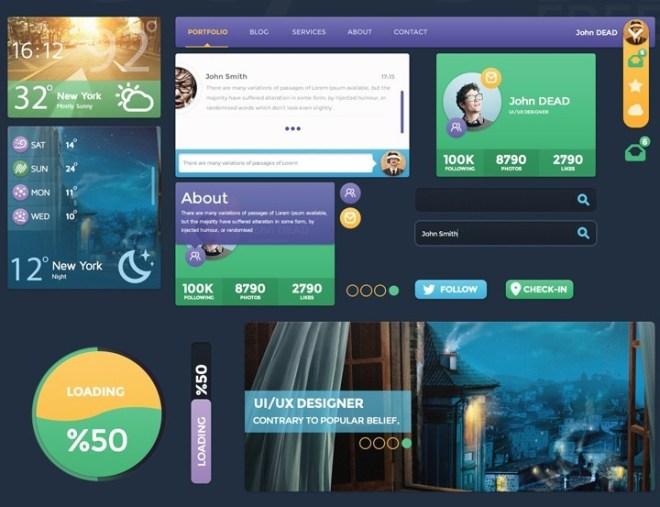 Color Web UI Kit PSD