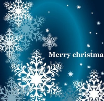 Elegant Snowflakes Background For Christmas Vector 02