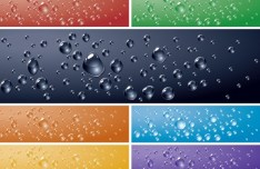 Fresh Water Drops Background Vector 02