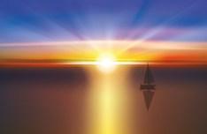 Vector Sunrise Landscape Illustration 04
