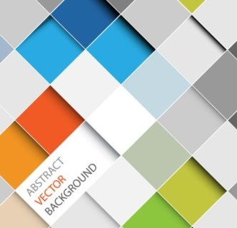 Colored Abstract Grids Background Vector