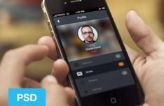 Dark User Profile UI For Mobile App PSD