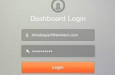 Dashboard Login Form Interface PSD