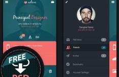 Mobile App User Profile Interface PSD