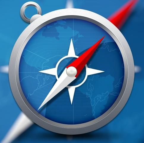 Realistic Safari Browser Icon PSD