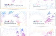 Set Of Vector Clean Card Designs with Arrow Backgrounds