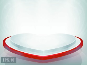Vector Love Heart Stage with Spotlights