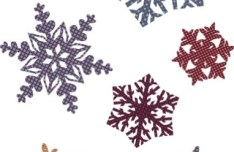 Vintage Snowflake Patterns Vector