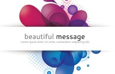 Beautiful Message Frame with Abstract Flowers Vector 02