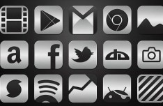 Metallic HD Icons Set