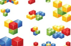 Vector Colorful Stacked Cubes