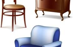 Set Of Vector 3D Furniture 01