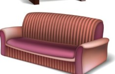 Set Of Vector 3D Furniture 03