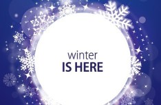 Winter Is Here Snow Flakes Background Vector