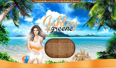 Ashley Greene Summer Website Theme PSD