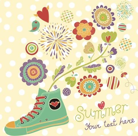 Cartoon Happy Summer Vacation Vector Illustration 01