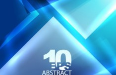 Glowing Blue Abstract Shapes Background 01