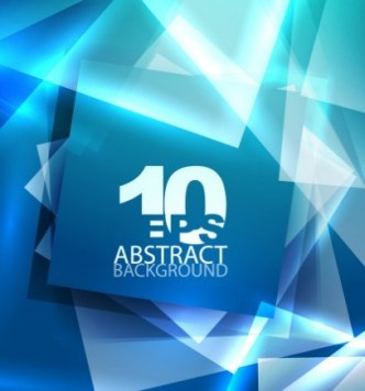 Glowing Blue Abstract Shapes Background 03
