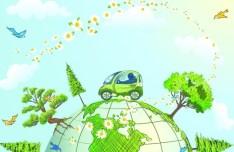 Green Planet Illustration Vector