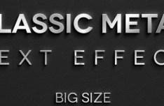 3D Metal Text Effect PSD