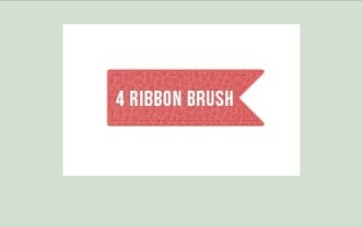 4 Ribbon Photoshop Brushes