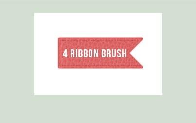 4 Ribbon Photoshop Brushes