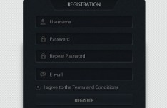 Dark Web Form Designs PSD