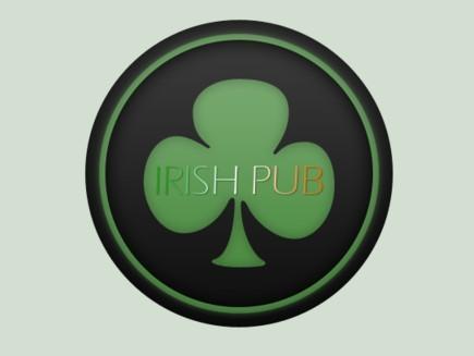 Irish Pub Logo PSD