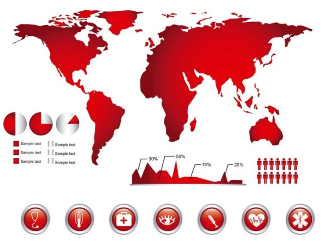 Red Infographic Design Elements Vector