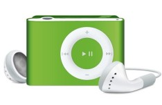iPod Shuffle with In-Hear Headphones PSD Mockup