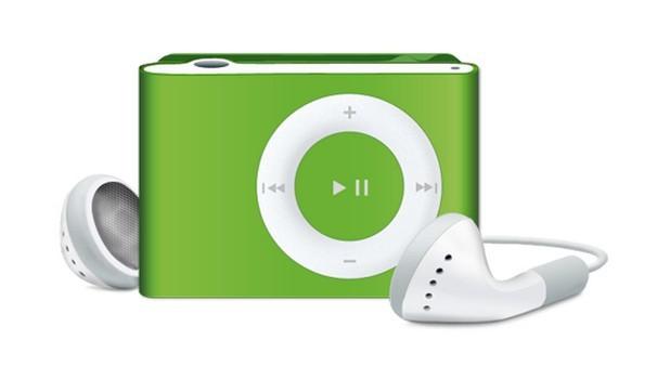 iPod Shuffle with In-Hear Headphones PSD Mockup