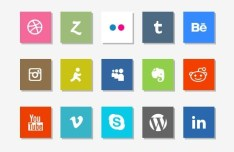 Metro Flat Style Social Media Icons Pack