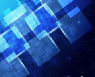 Blue Light Galaxy Vector Background 04