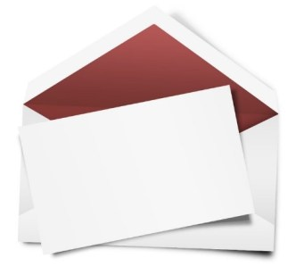 Red Envelope with White Letter Paper PSD