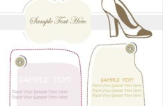 Set Of Vector Hand Drawn Shoe Labels 01