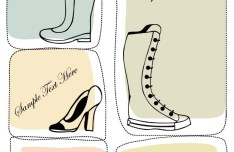 Set Of Vector Hand Drawn Shoe Labels 04