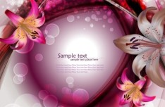 Gorgeous Lily Flower Background Vector