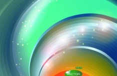 Colorful Bright Abstract Swirls Background Vector 01