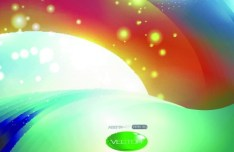 Colorful Bright Abstract Swirls Background Vector 02