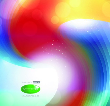 Colorful Bright Abstract Swirls Background Vector 04