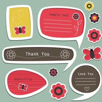 Set Of Vector Lovely Cartoon Text Frames 02