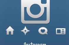 Sleek Grey Instagram App Icons PSD