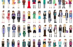Vector Fashion Pixel Woman Collection