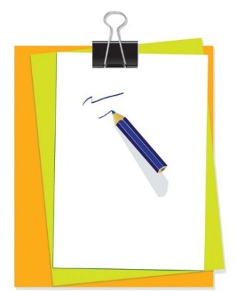 Blank Clipboard with Clip Template Vector 03