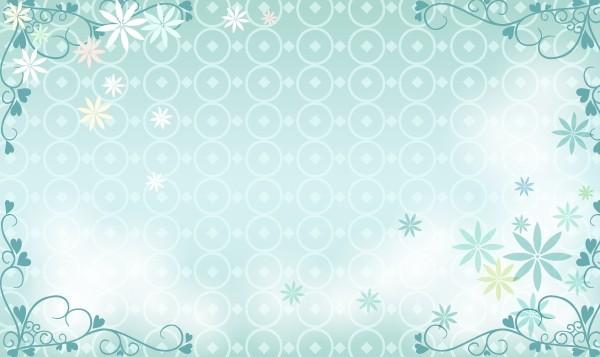Blue Floral Wedding Background Vector