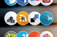 Compact Disc-Like Social Media Icons Pack (PSD Included)