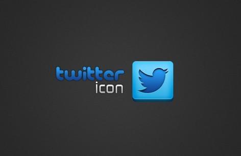 Minimal Blue Twitter Icon PSD